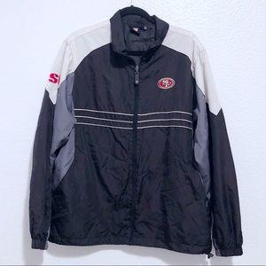 Reebok NFL SF 49ers wind breaker jacket
